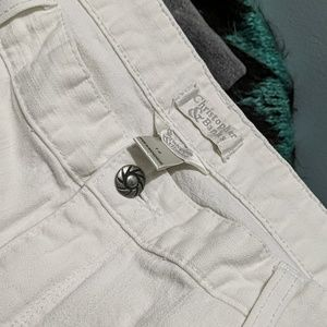 Christopher & Banks white ankle jeans